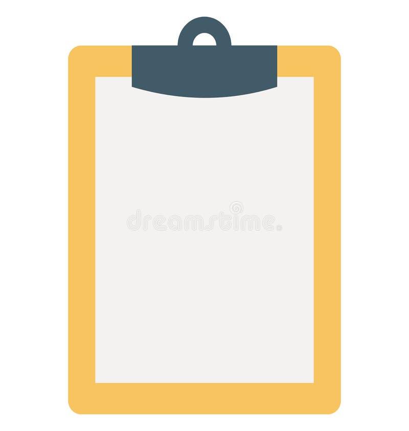 Skrivplatta isolerad färgvektorsymbol royaltyfri illustrationer