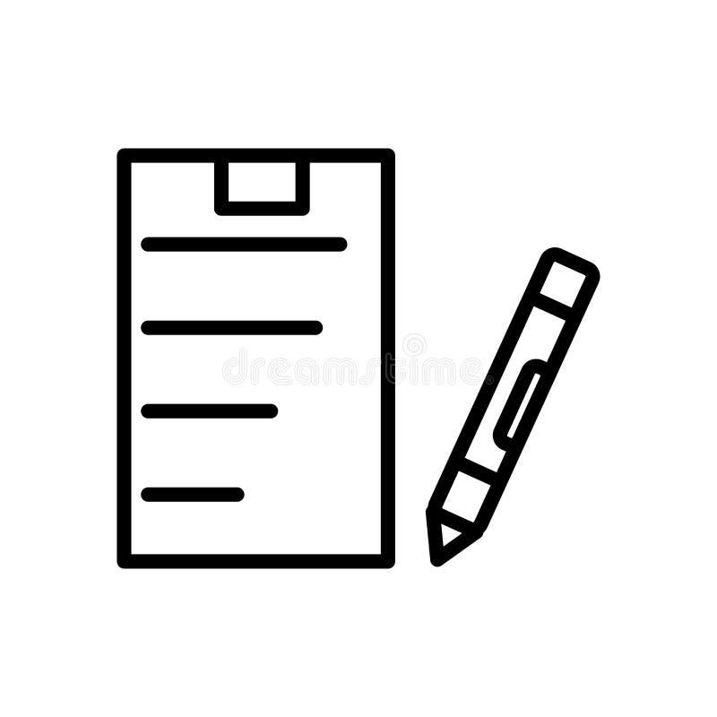 Skrivplattasymbolsvektor som isoleras på det vita bakgrund, skrivplattatecknet, linjen och översiktsbeståndsdelar i linjär stil royaltyfri illustrationer