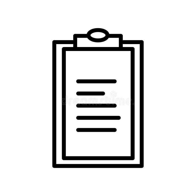Skrivplattasymbolsvektor som isoleras på vit bakgrund, skrivplattatecknet, linjen eller det linjära tecknet, beståndsdeldesign i  stock illustrationer