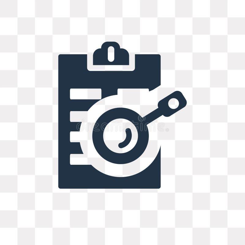 Skrivplattavektorsymbol som isoleras på genomskinlig bakgrund, Clipbo stock illustrationer