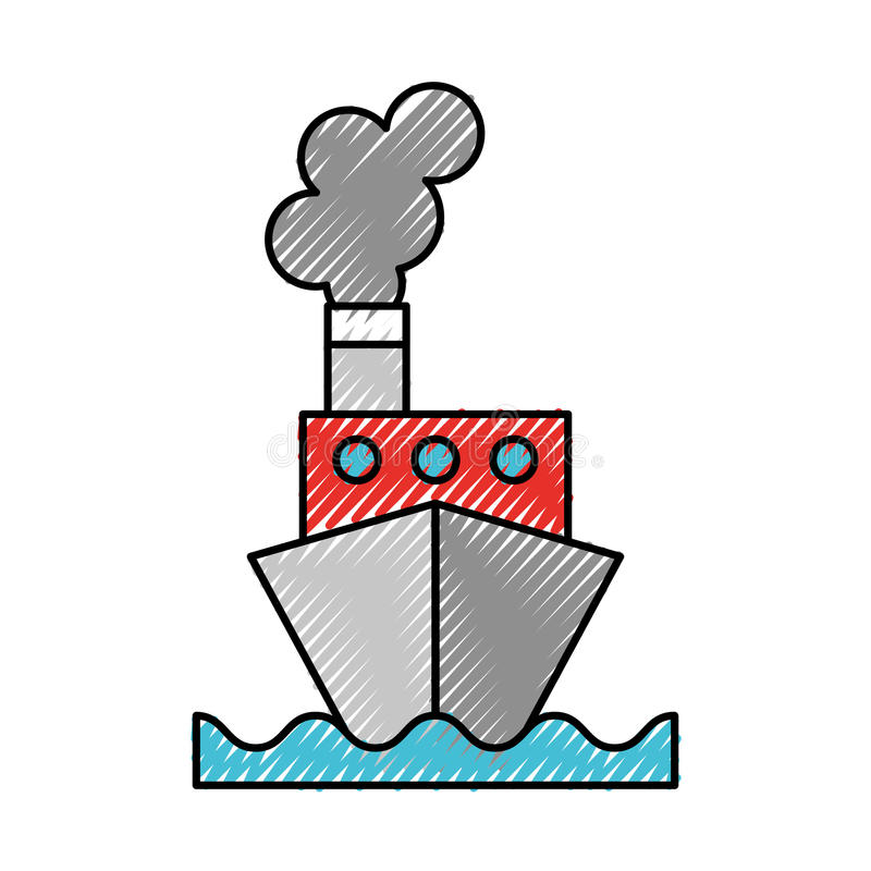 Skrobanina statku kreskówka ilustracji