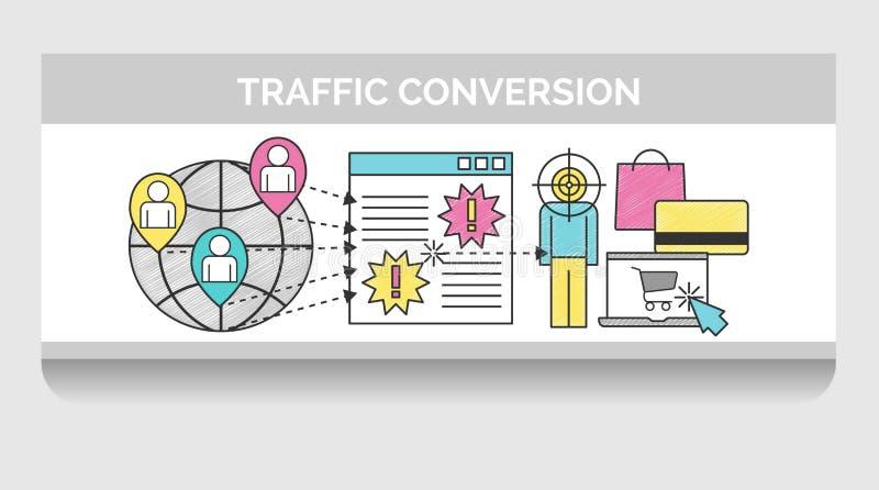 Skrobaniny ilustracja dla sieć ruchu drogowego zamiany ilustracja wektor