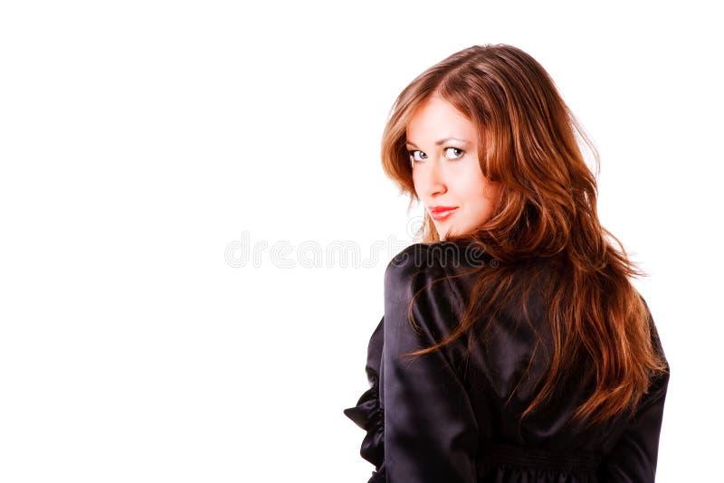 skromna dziewczyny piękna powabna kurtka zdjęcia stock