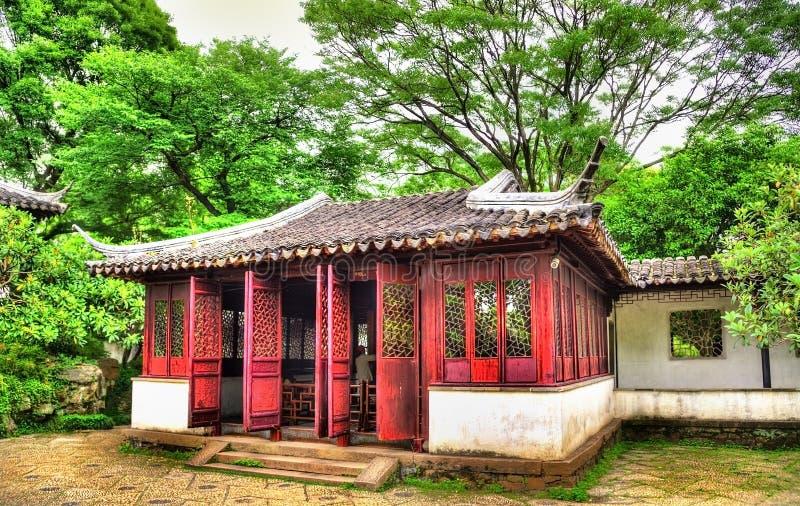 Skromnie administratora ogród wielki ogród w Suzhou obraz stock