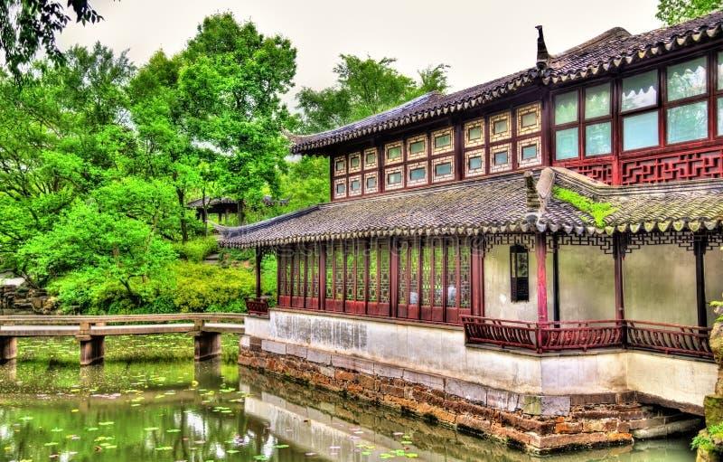 Skromnie administratora ogród wielki ogród w Suzhou zdjęcie royalty free