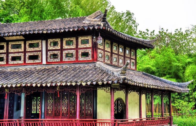 Skromnie administratora ogród wielki ogród w Suzhou zdjęcia stock