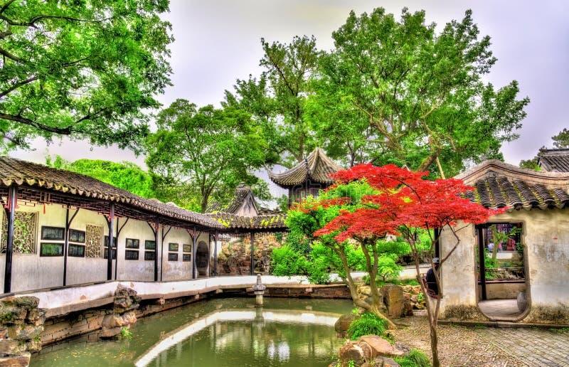 Skromnie administratora ogród wielki ogród w Suzhou zdjęcia royalty free
