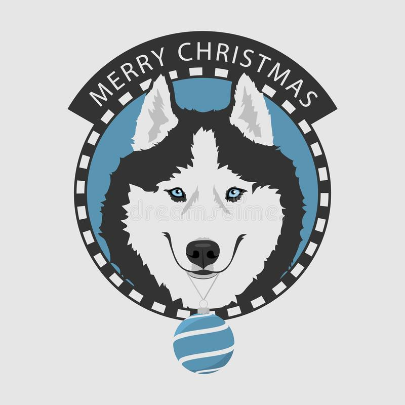 Skrovlig hund för jul stock illustrationer