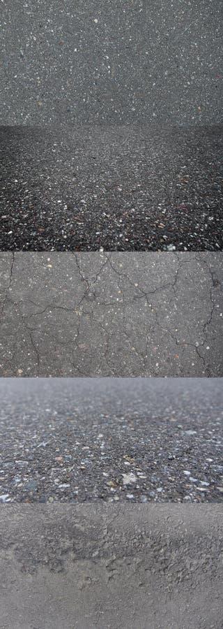 skrovlighet Ställ in Gray Rough Asphalt gr? textur arkivfoton