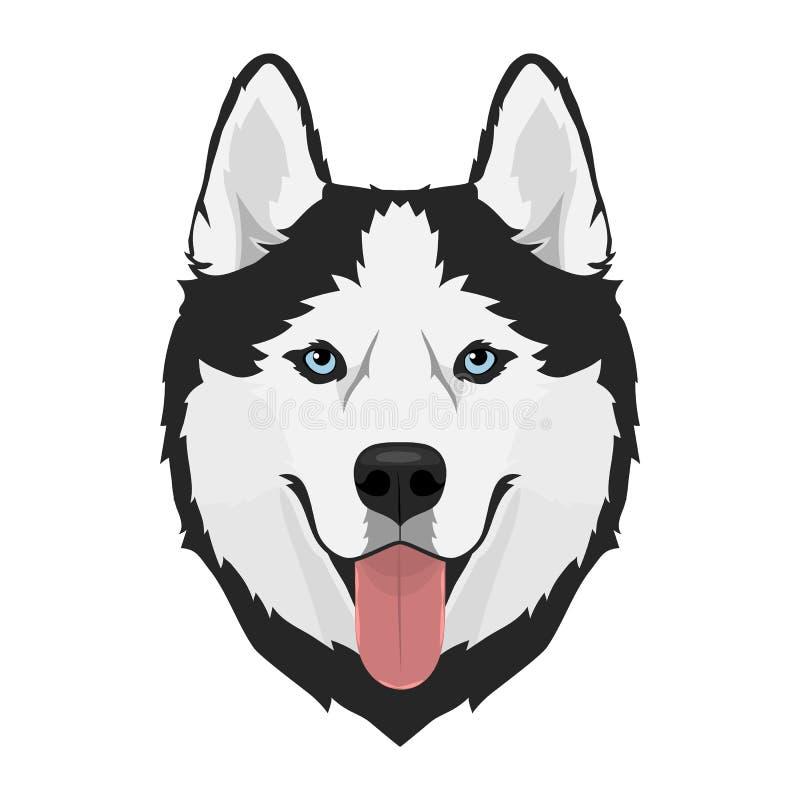 Skrovligt hundhuvud vektor illustrationer
