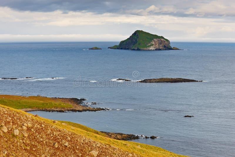 Skrudur island, Iceland. Skrudur island, East Fjord, Iceland stock photo