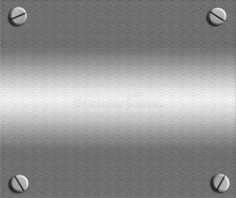 skruvar för metallplatta royaltyfri illustrationer