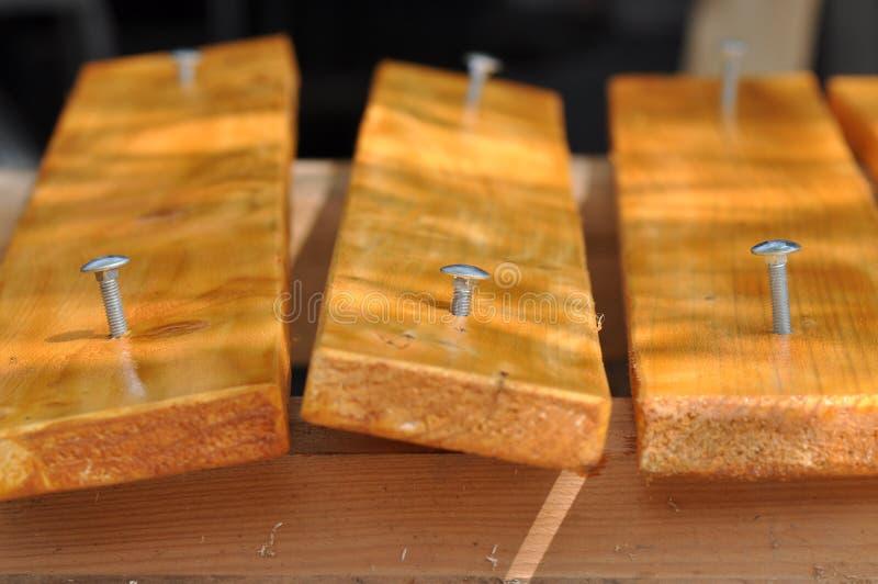skruvnin trä arkivfoto