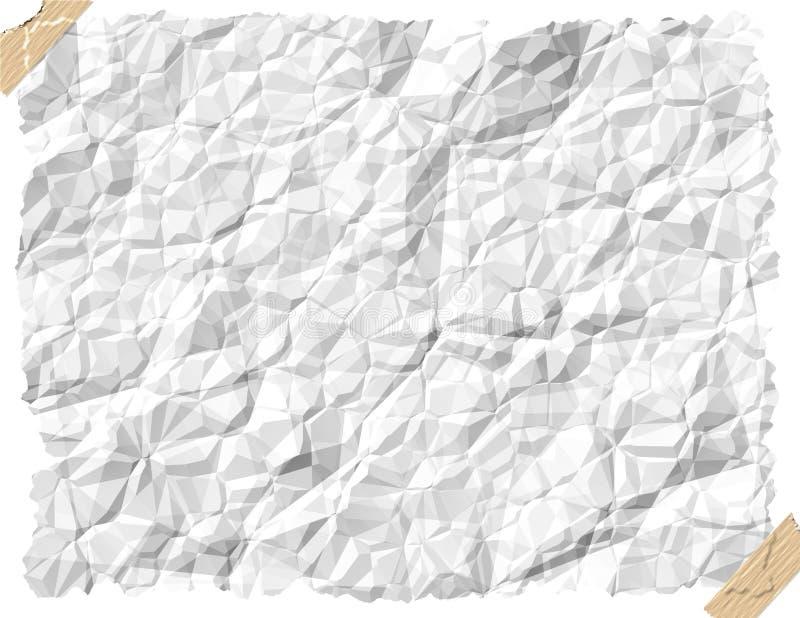 skrynkligt papper stock illustrationer