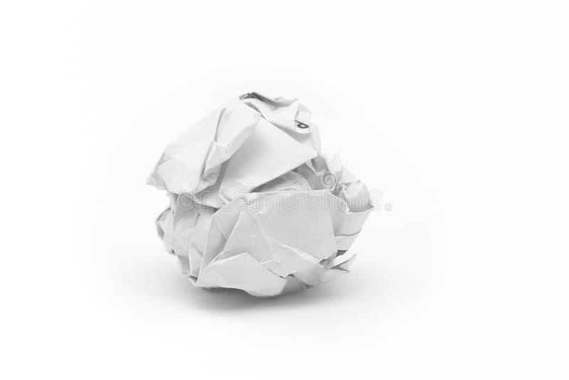 skrynkligt papper för boll close upp arkivbild