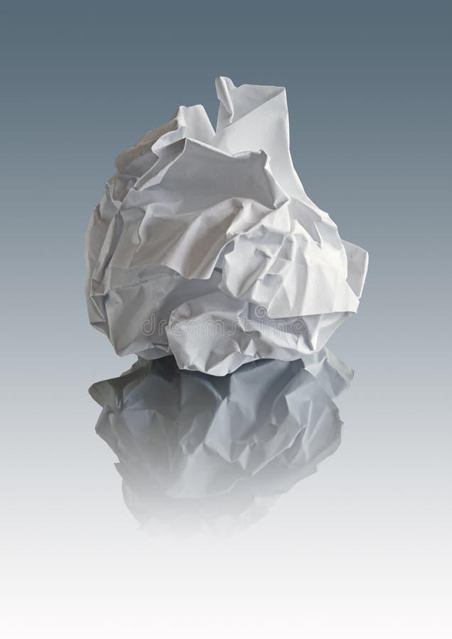 Skrynkligt papper med banor royaltyfri fotografi