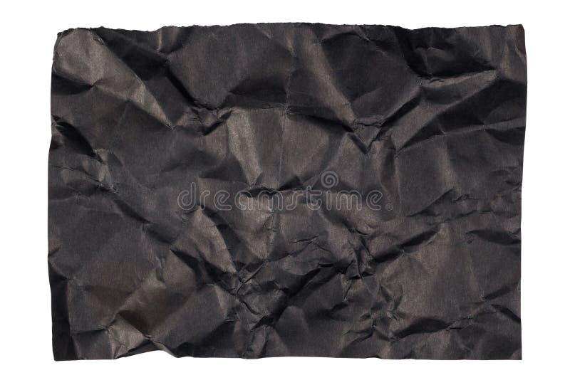 Skrynkligt svart papper fotografering för bildbyråer