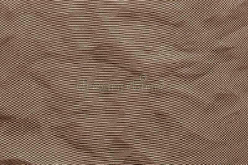 Skrynkligt syntetiskt tyg för ingrepp av brun färg fotografering för bildbyråer