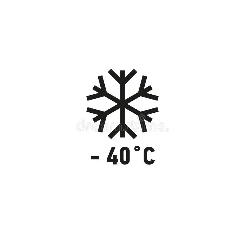 Skrytka dla use na chłodnia symbolu na białym tle royalty ilustracja