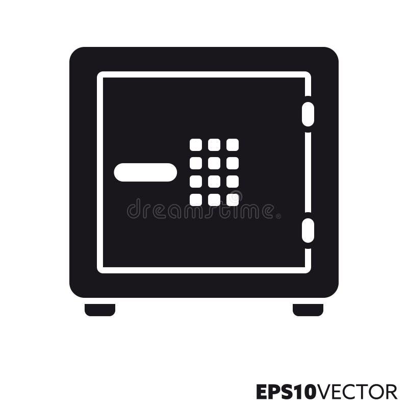 Skrytka z klawiatura glifu wektorową ikoną ilustracja wektor