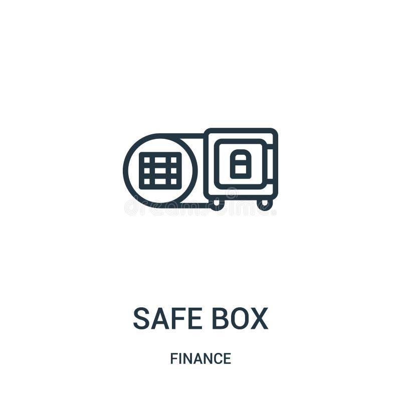 skrytki ikony pudełkowaty wektor od finansowej kolekcji Cienka kreskowa skrytki pudełka konturu ikony wektoru ilustracja Liniowy  ilustracji