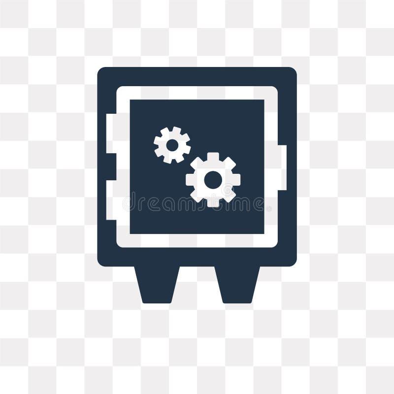 Skrytki pudełkowata wektorowa ikona odizolowywająca na przejrzystym tle, skrytka bo royalty ilustracja