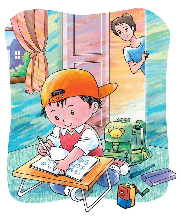 skrzętny uczeń ilustracji