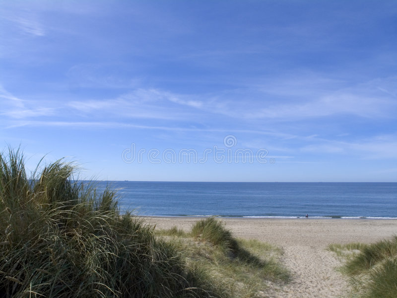 skrzyżowanie ścieżka wydmowego piasku. fotografia royalty free