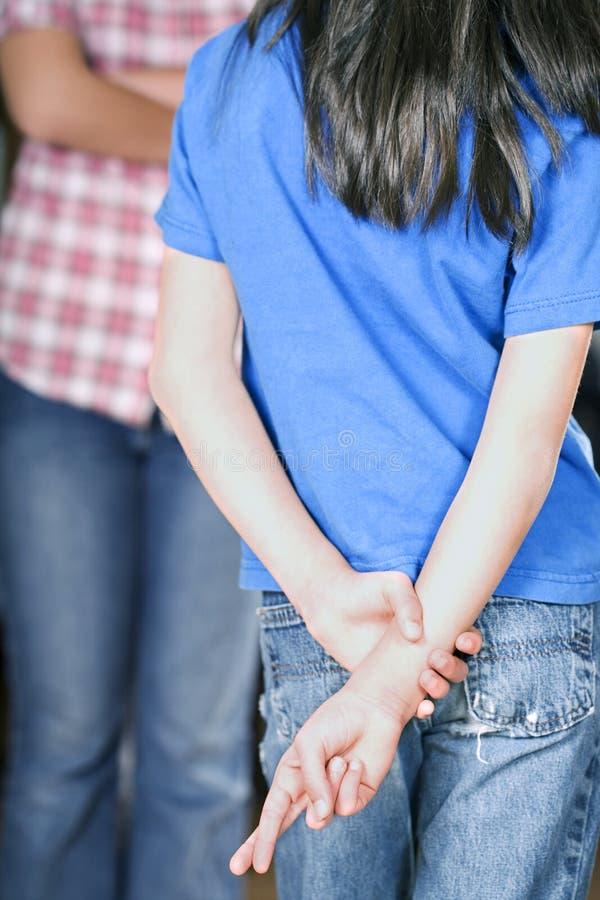 skrzyżowanie dotyka dziewczyny ona zdjęcie stock