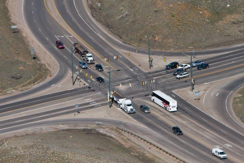 skrzyżowanie dróg zdjęcie royalty free