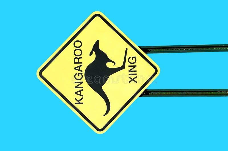 skrzyżowanie kangura znaka obrazy stock
