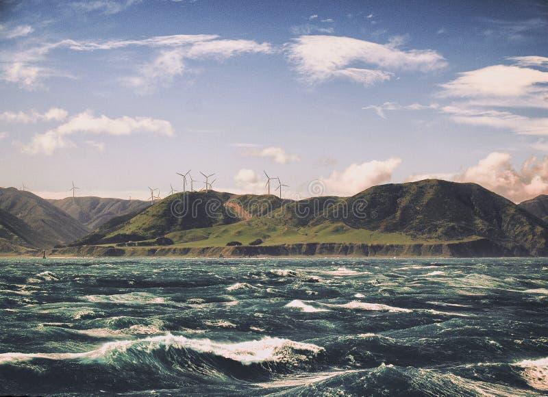Skrzyżowanie kucbarska cieśnina Nowa Zelandia obrazy stock