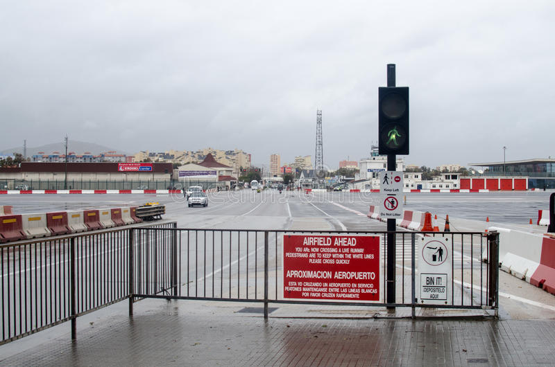 Skrzyżowanie lotniska z powrotem Hiszpania zdjęcie royalty free