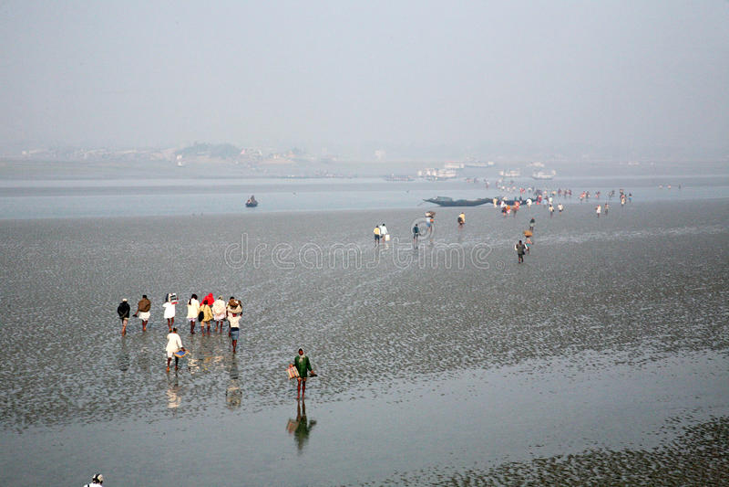 Skrzyżowanie Malta rzeki, India zdjęcia royalty free