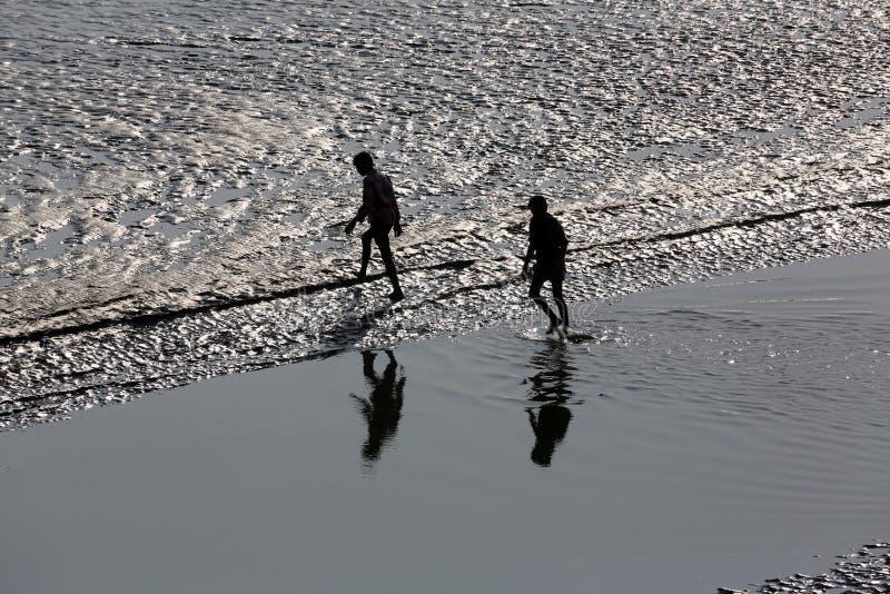 Skrzyżowanie Malta rzeki, Zachodni Bengalia, India zdjęcie stock