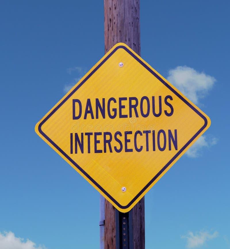 Skrzyżowanie niebezpieczny znak