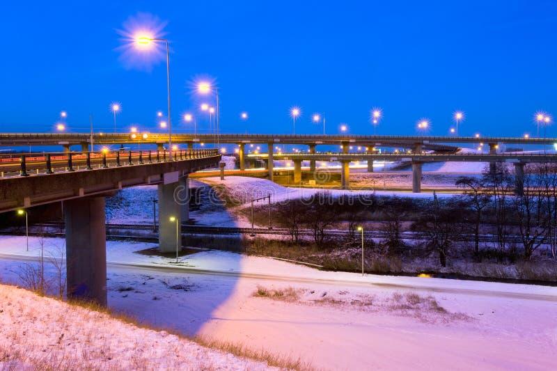 Skrzyżowanie Zima Zdjęcie Royalty Free