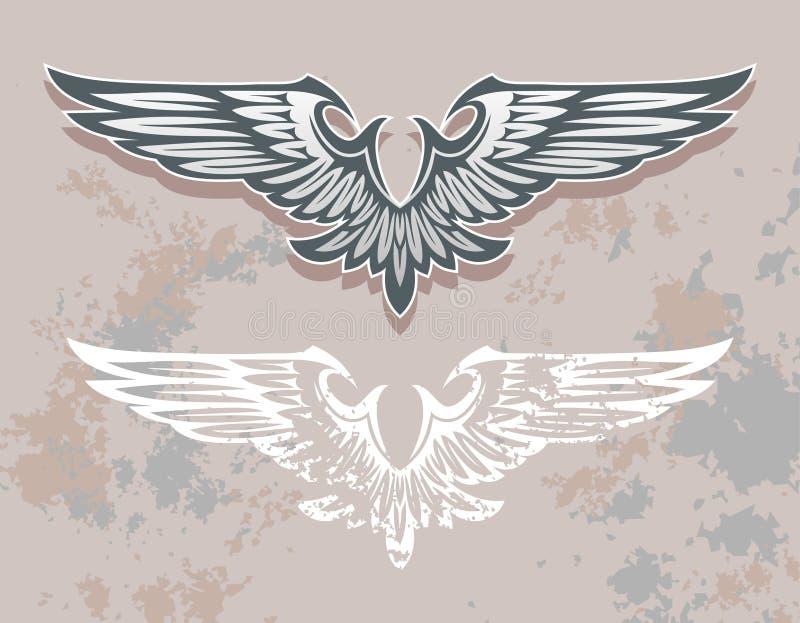 skrzydła royalty ilustracja