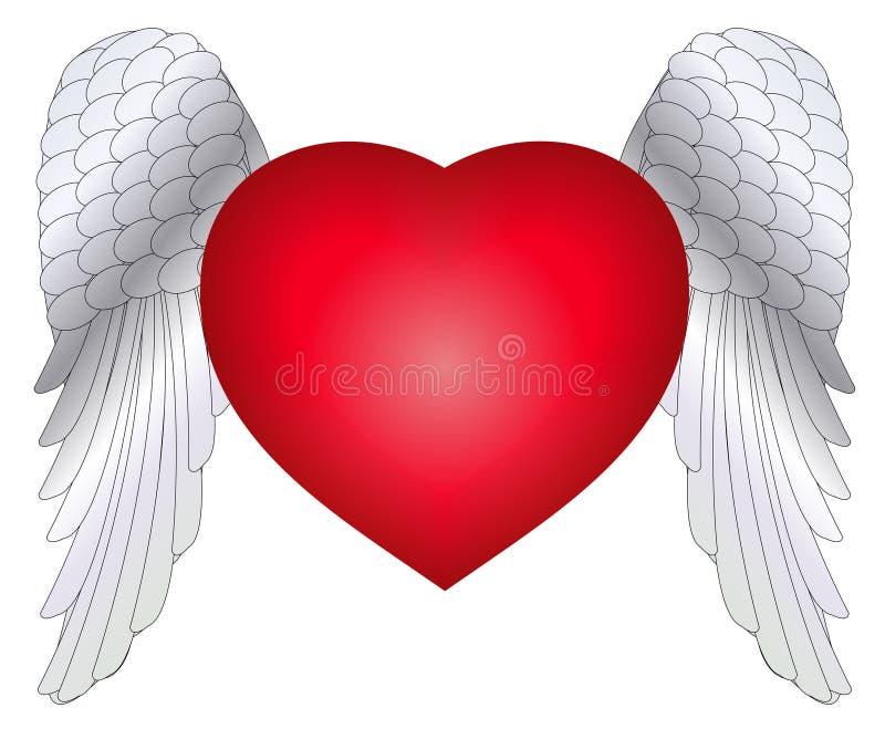 skrzydła serc ilustracja wektor
