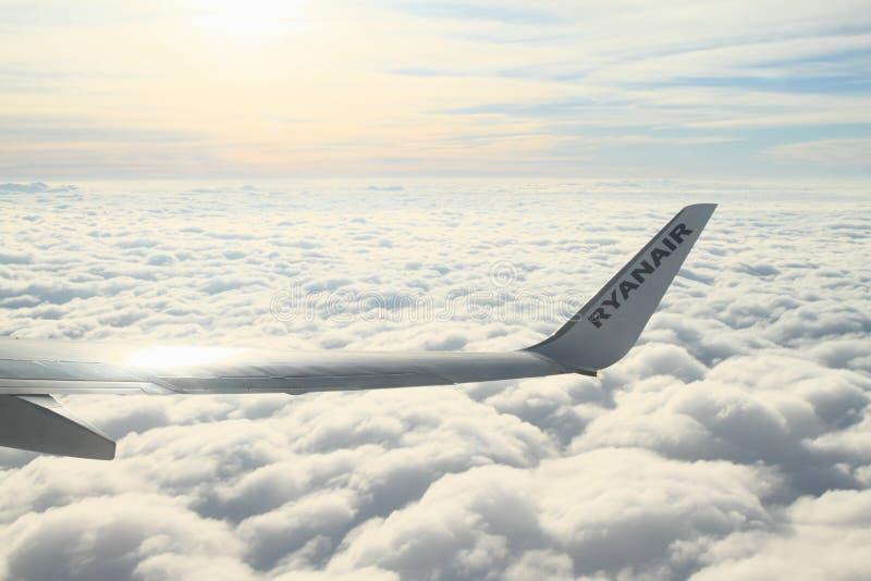 Skrzydło samolot zdjęcie royalty free
