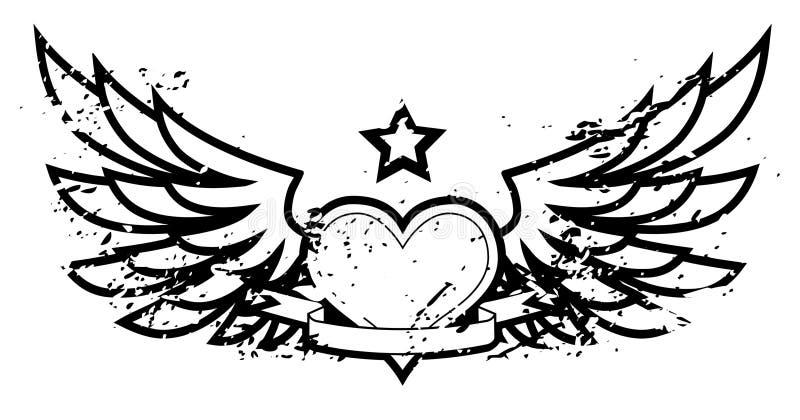 ' skrzydlaty stwór royalty ilustracja