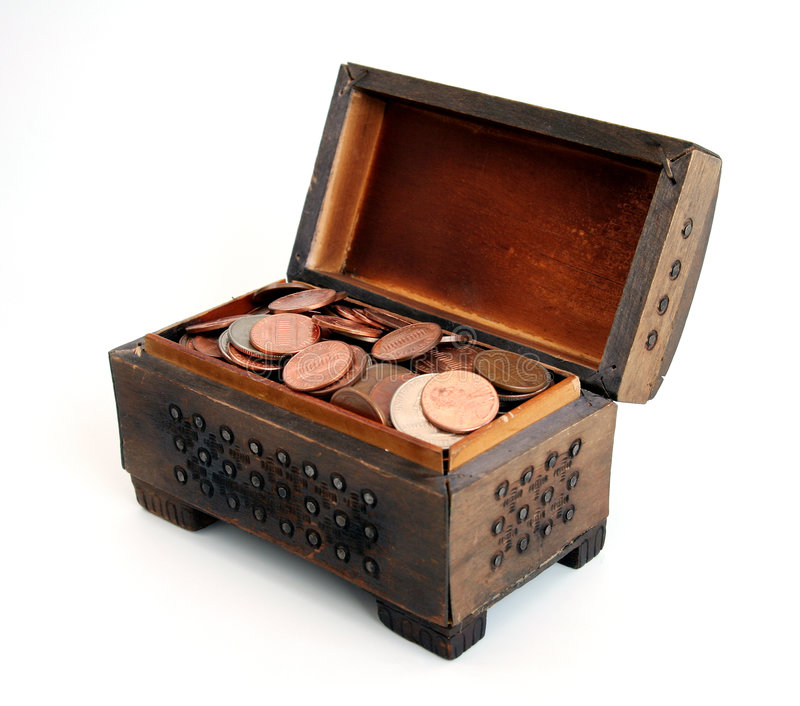 skrzynia skarbów obrazy stock