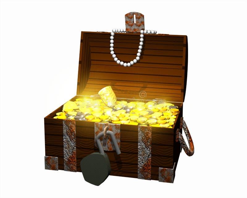 skrzynia skarbów ilustracja wektor