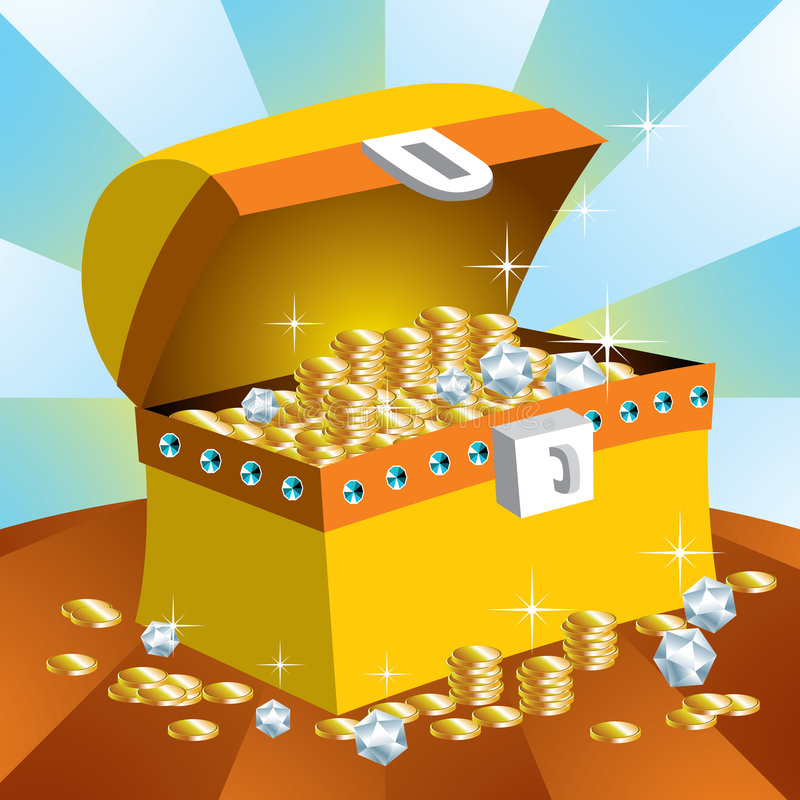 skrzynia skarbów royalty ilustracja