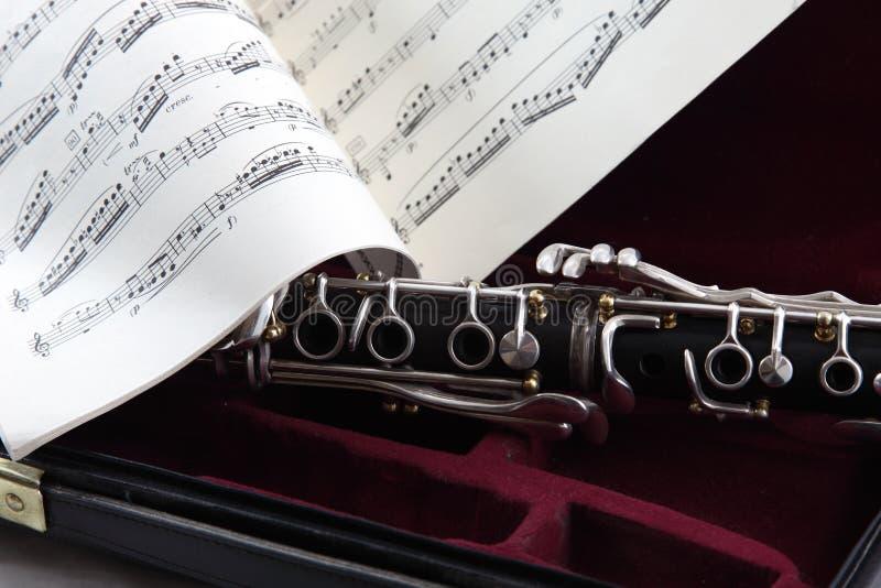 skrzynka klarnetu muzyka obraz stock