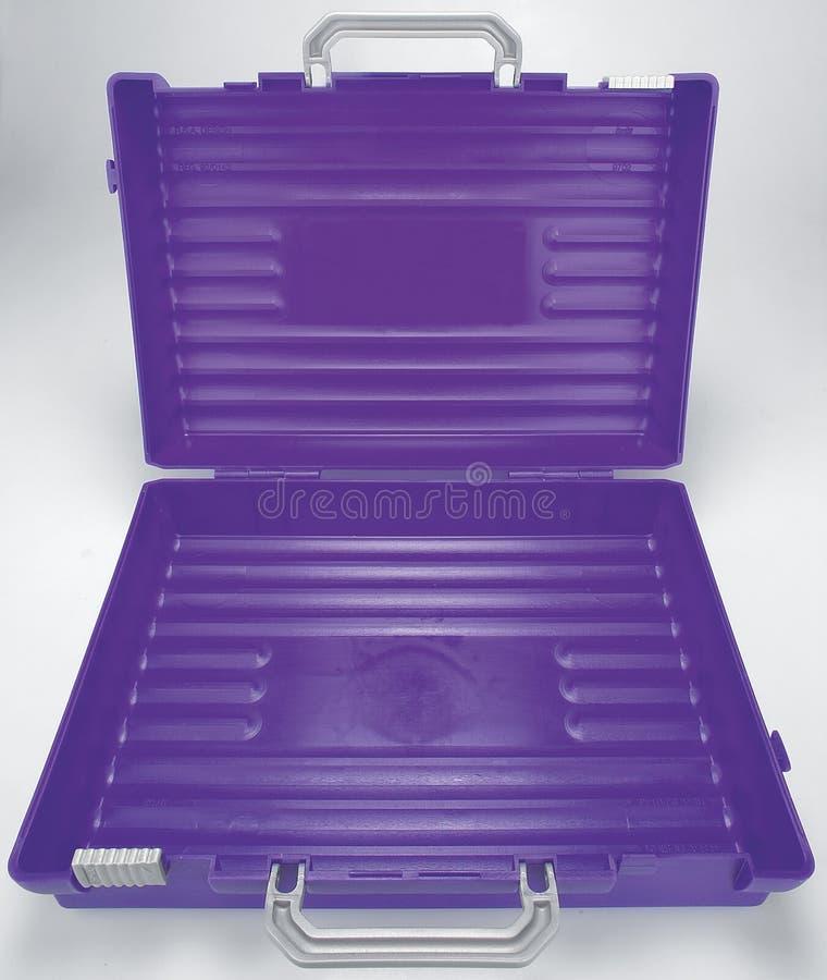 skrzynka otwarta plastikowa purpur szkoła zdjęcie royalty free