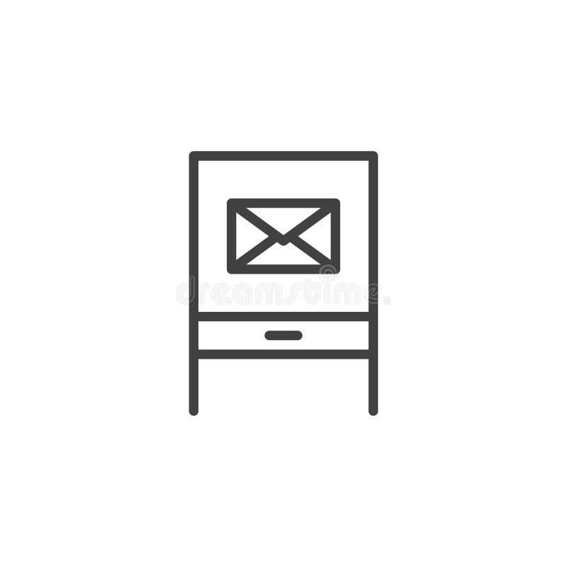 Skrzynka Pocztowa konturu ikona royalty ilustracja