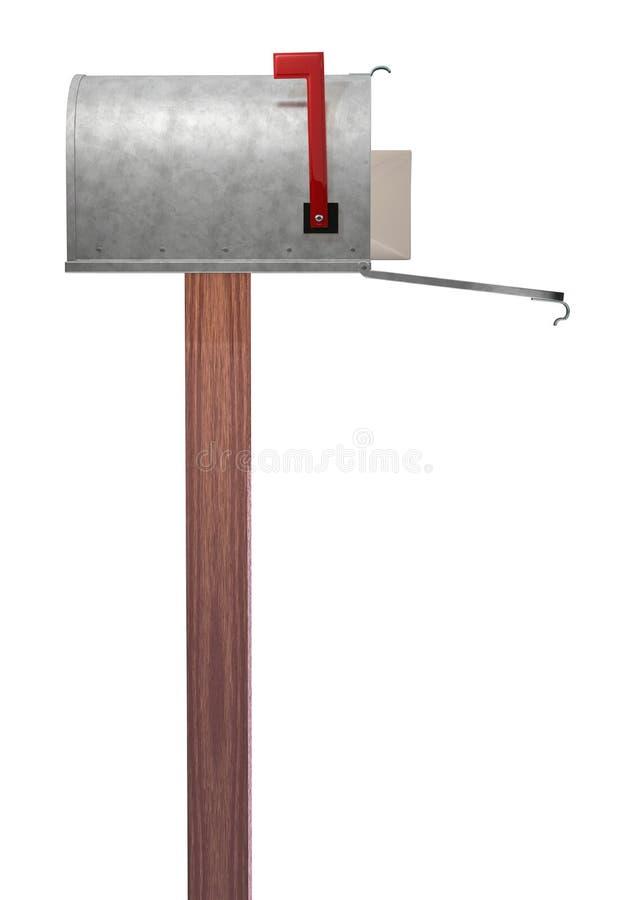 skrzynka pocztowa widok boczny zdjęcia stock