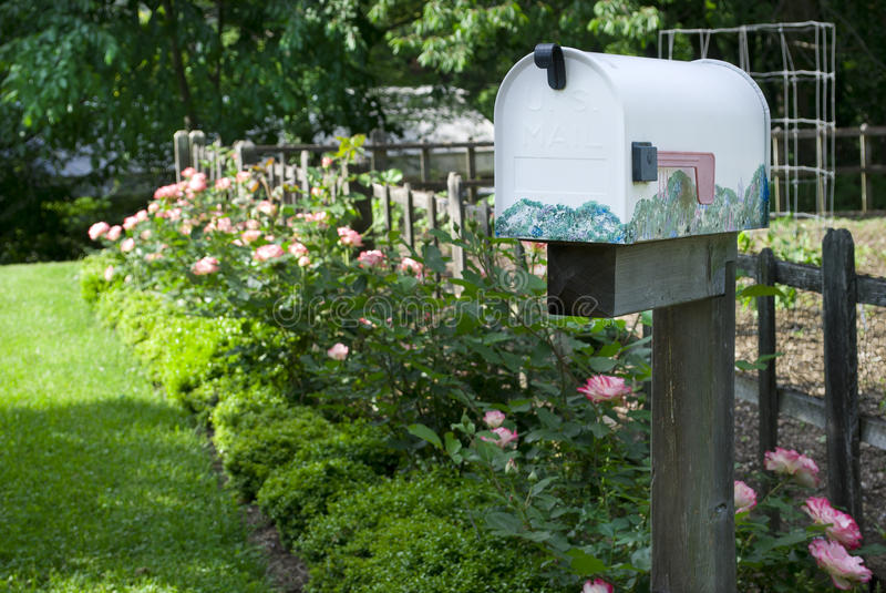 skrzynka pocztowa wiejska zdjęcie stock