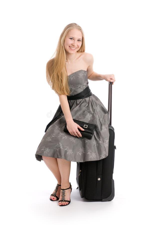 Download Skrzynka Podróży Kobiety Potomstwa Obraz Stock - Obraz złożonej z pakunek, piękno: 13326743